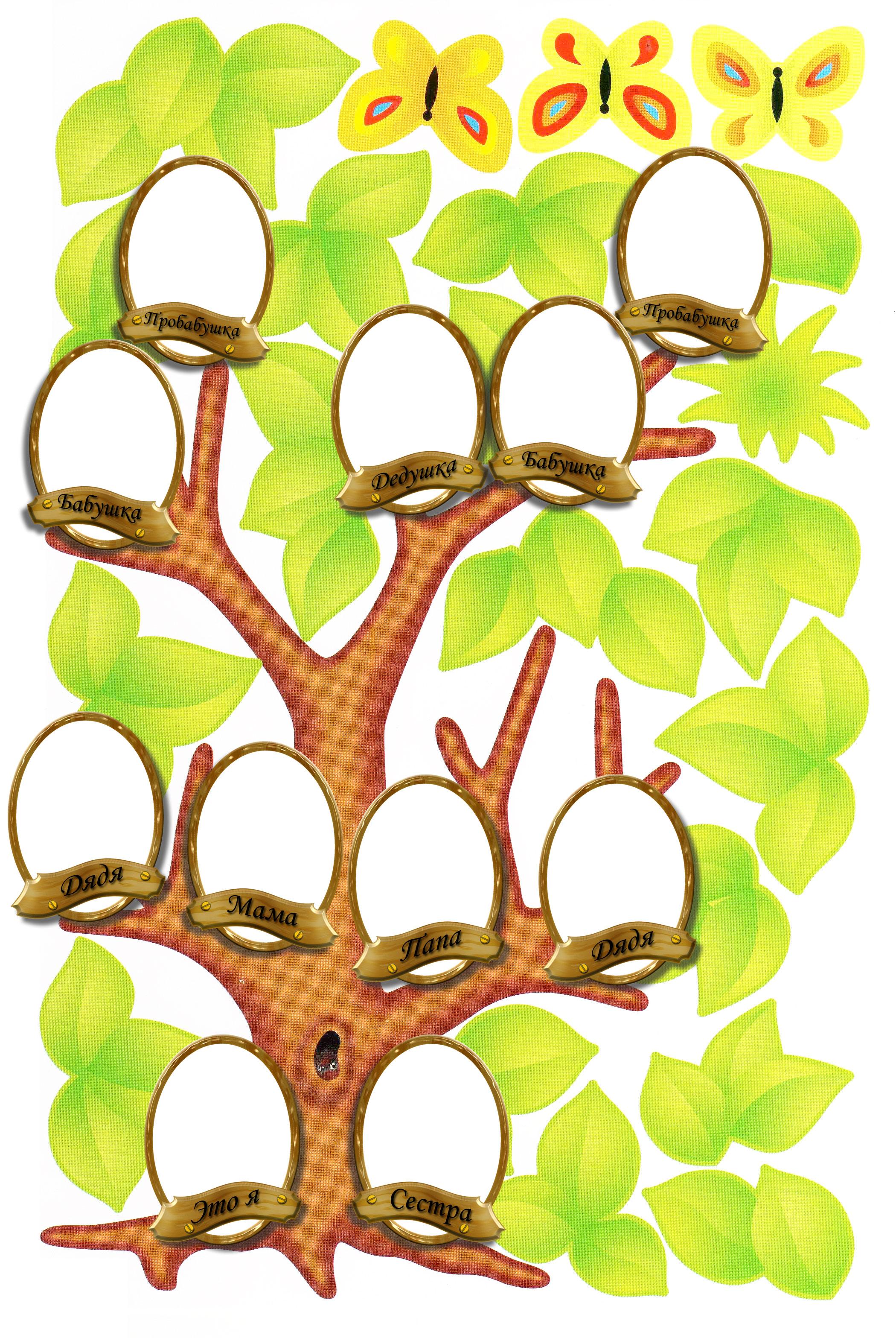 семейное дерево шаблон с братом скачать